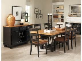 dining room table and chair sets country style dining room sets with black painted dining table and chairs with brown fabric