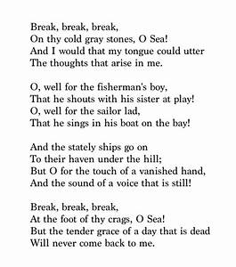 break break break poem summary