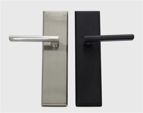 Lugano Full Plate Mortise Lock Entry Handleset with