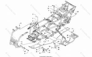 Arctic Cat Atv 2017 Oem Parts Diagram For Frame And