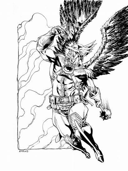 Hawkman Dc Comics Pages Coloring Atkins Robert