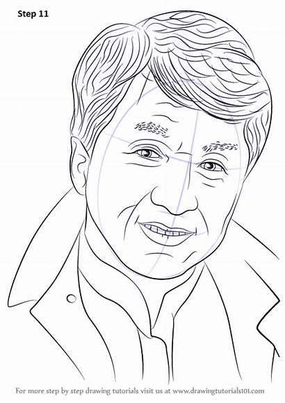 Chan Jackie Draw Drawing Step Celebrities Learn