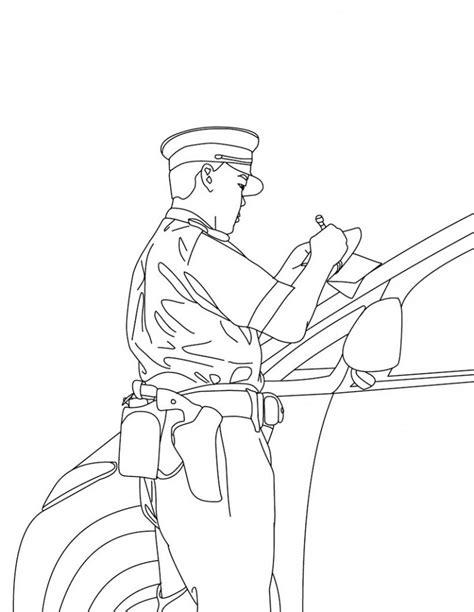 printable policeman coloring pages  kids
