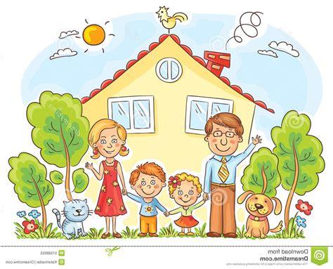 Familie Haus Clipart Draussen