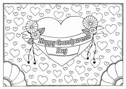 Coloring Grandparents Pages