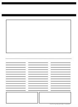 blank newspaper article template   girlings