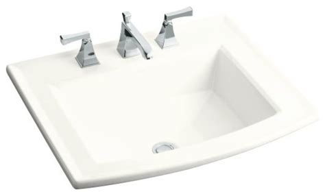 Drop In Bathroom Sink Without Faucet Holes by Kohler Archer Self Drop In Bathroom Sink With