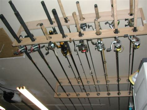 Ceiling Mounted Fishing Rod Holder Plans by Fishing Pole Ceiling Rack Plans Plans Diy Free
