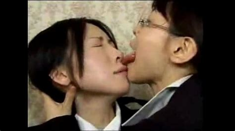Asian Lesbian Wild Tongue Kiss - XNXX.COM