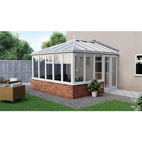 euramax edwardian glass roof dwarf wall conservatory 13