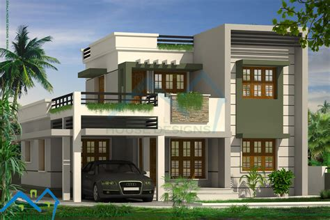 contemporary house plans with flat roof