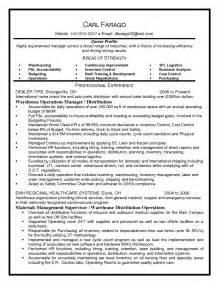 Warehouse Distribution Supervisor Resume by Logistics Sales Resume Objective
