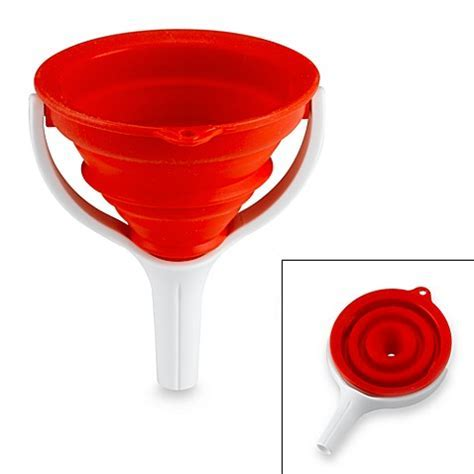Dexas® Collapsible Red Funnel   BedBathandBeyond.com
