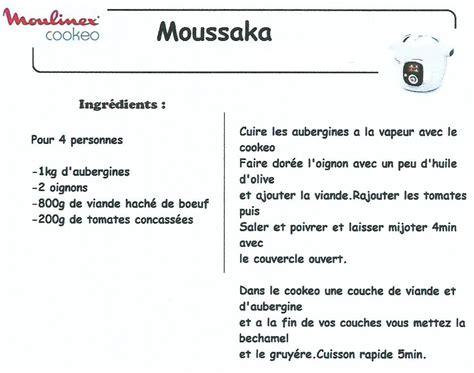 astuces cuisine rapide moussaka recettes cookeo