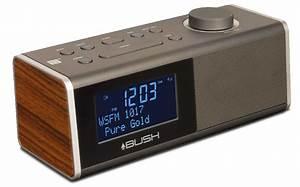 Digital Alarm Clock Radio with Bluetooth - Walnut Bush
