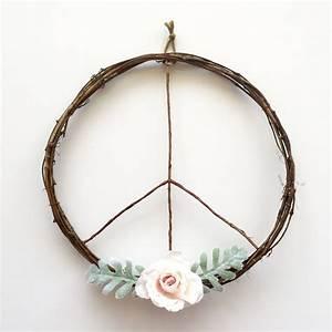 Peace Sign Wreath/Boho Wreath/Boho Chic Wreath/Boho ...