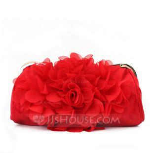 gorgeous satinchiffon  flower clutches