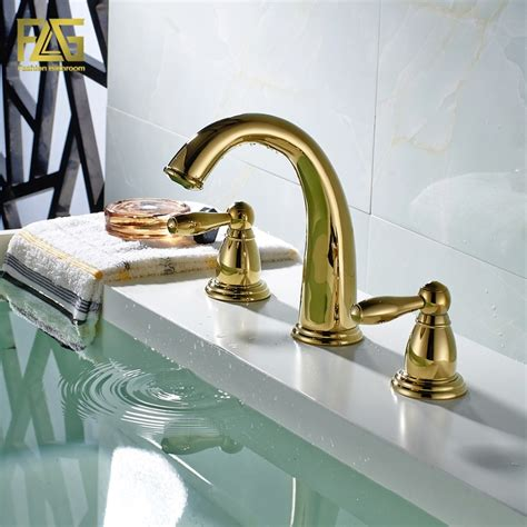 flg nordic style basin faucet gold plated  hole bathroom