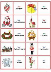 Spiele Für Weihnachten : spiele im deutschunterricht memory weihnachten silvester arbeitsblatt kostenlose daf ~ Frokenaadalensverden.com Haus und Dekorationen