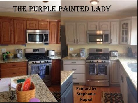 kitchen cabinets  tired  purple painted lady