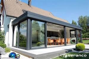 Prix Veranda Alu : veranda moderne fabrication et installation de v randa en alu de qualit veranco ~ Melissatoandfro.com Idées de Décoration