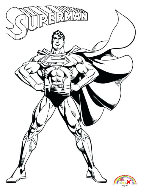 printable superman coloring page blogxinfo blogxinfo