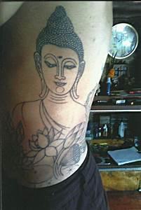 Buddha with Lotus Flowers - Big Magic Tattoo, Koh Phangan ...