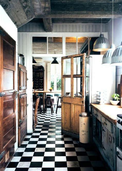 cuisine sol noir vous cherchez des idées pour un carrelage noir et blanc