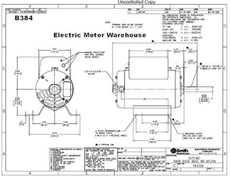 Schematic Of 3 4 Hp Motor Wiring by Century Magnetek Electric Motor Wiring Diagram