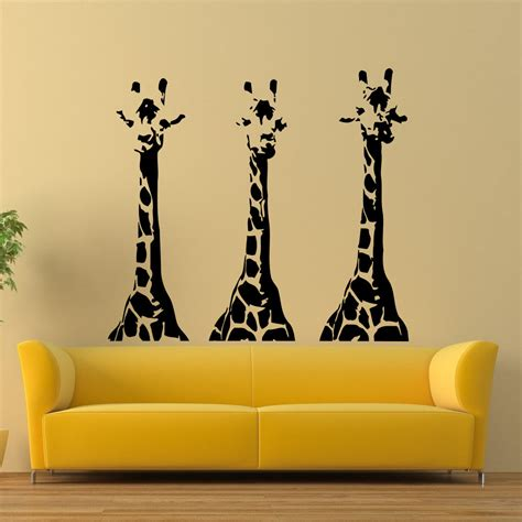 Wall Mural Decals Vinyl by Wall Vinyl Decals Giraffe Animals Jungle Safari Decal
