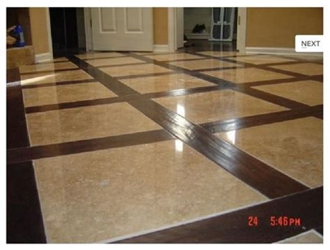 How to set a marble and wood floor