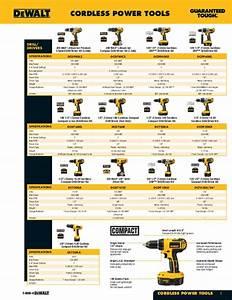 Dewalt Battery Compatibility Chart Dewalt Cordless Powertools Catalogue