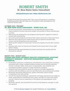 How To Make A Quick Resume For Free New Home Sales Consultant Resume Samples Qwikresume