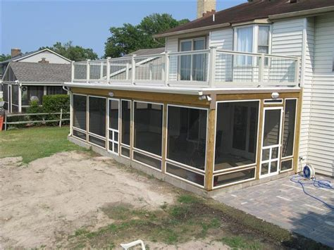 deck screened porch screened patio