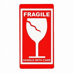 Fragile Handle With Care Label | Zazzle