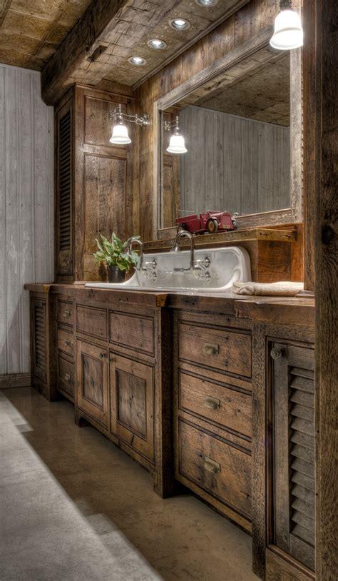 35 Best Rustic Bathroom Vanity Ideas And Designs For 2019