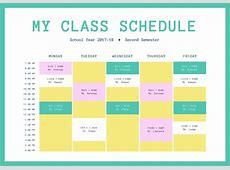 Créez votre emploi du temps scolaire en ligne Canva