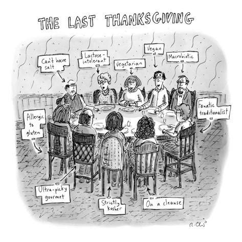 the last thanksgiving new yorker poster print by roz chast at the condé nast collection