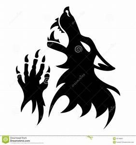 Tatouage Loup Graphique : pochoir de loup garou de vecteur tatouage noir ~ Mglfilm.com Idées de Décoration