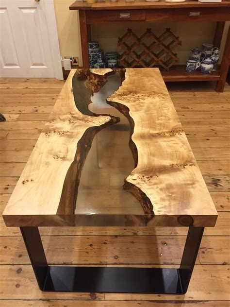 coin cast resin  table tops resin wood diy