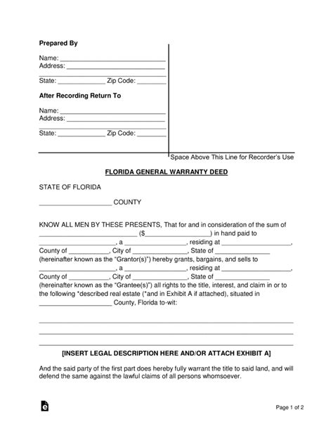 general release form florida free florida general warranty deed form word pdf