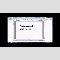 How To Print Your Computer Screen Youtube