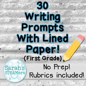 writing prompts   grade  lined paper  sarahs