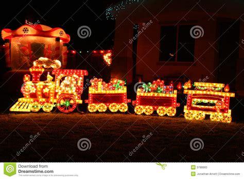 Santa Train Decoration christmas train stock photos image 3788993