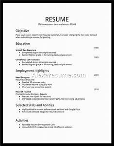 First resume template health symptoms and curecom for First resume format