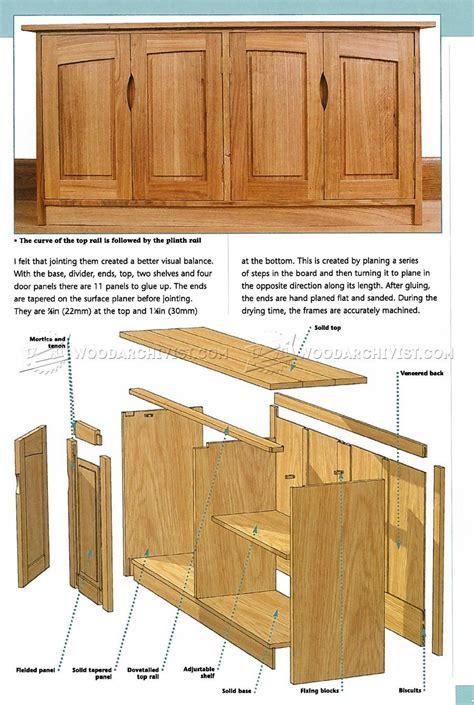 door sideboard plans furniture plans diy storage
