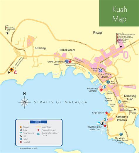 langkawi tourist map