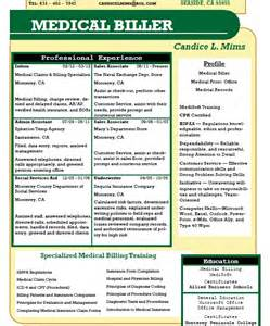 resume for coder and biller billing and coding resume sle sle resumes