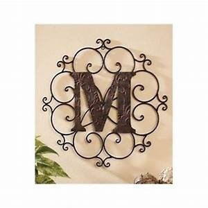 decorative metal letters wall hanging scrollwork medallion With metal letters to hang on wall