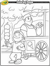 Ice Cream Coloring Pages Vendor Crayola Printable Sheets Para Spring Colorir Desenhos Kleurplaten Print Colouring Drawing Summer Excitement Beach Drawings sketch template